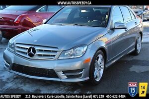 2013 MERCEDES-BENZ C300 4MATIC/AWD, TOIT OUVRANT, CUIR CHAUFFANT