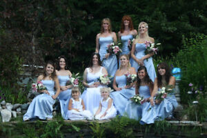 wedding dress and 2 brides maid dresses alfred sung 100 EACH