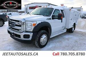 2013 Ford F-450 SD 6.8L V10 SuperCab Dually Service Body