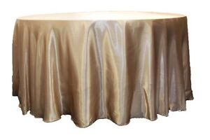 "120"" round satin tablecloth for sale"