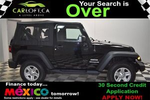 2015 Jeep Wrangler SPORT 4X4 - LOW KMS**CRUISE CONTROL**AUX