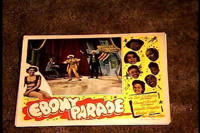 EBONY PARADE LOBBY CARD #8 1947 ALL BLACK CAST RARE GREAT