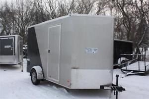 """Bravo Enclosed 7x12 Enclosed Cargo Trailer 12"""" added height"""