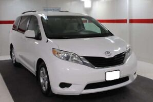 Accident Free Immaculate White Toyota Sienna 2013 LE Low 109KM