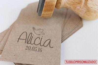 Sello para Comunion Caucho Personalizado Ideal Invitaciones,Tarjetas... Mod.05