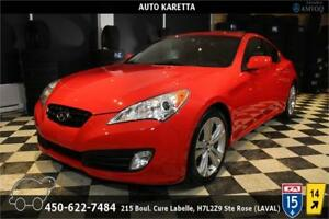 2011 GENESIS COUPE 2.T/TOIT OUVRANT/CUIR/MAGS, PNEUS HIVER NEUF