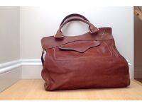 Paul and Joe large tan leather handbag