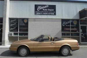 1987 CADILLAC ALLANTE CONVERTIBLE **ONLY 125,000KM**NO ACCIDENTS