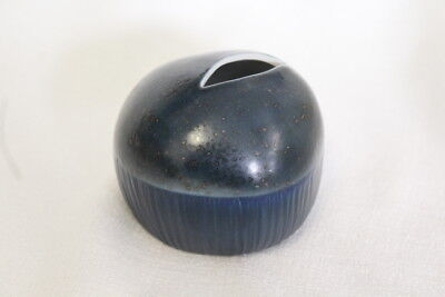 MODERN NAVY BLUE GLAZED TEXTURED BUD VASE PORCELAIN CERAMIC SUCCULENTS DRIEDS - Navy Vase