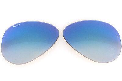 Objektive Ersatzteile ray ban 3025 55 4O Aviator Blau Mirror Gradient Sole Spare