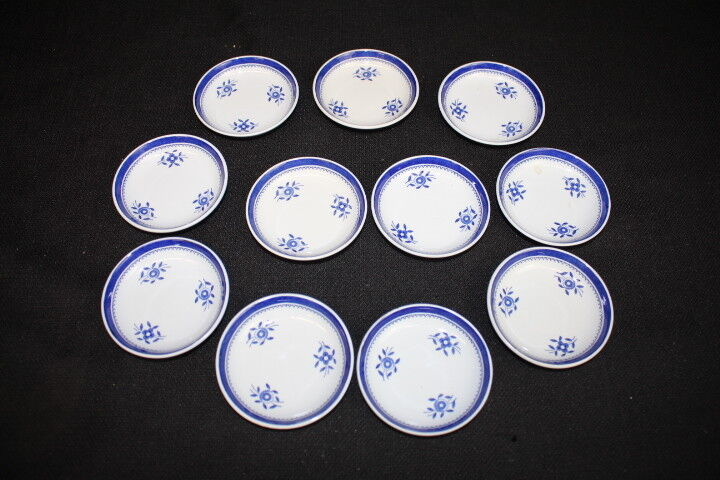 Rare 11 Copeland Spode Blue Gloucester Fine Stone China Butter Pats