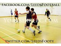 Play FREE Futsal, 5 a-side & 7 a-side Football in Leeds! All Players Welcome