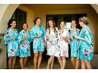 Short Wedding Bridesmaid Robes/Dressing gowns