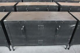 VINTAGE STYLE METAL SIDEBOARD FROM MADEDOTCOM GOOD USED CONDITION FREE LOCAL DELIVERY 07486933766