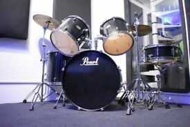 Pearl forum drum kit with cymbals