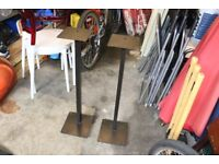Speaker stands - Solid metal (Black) with Spikes