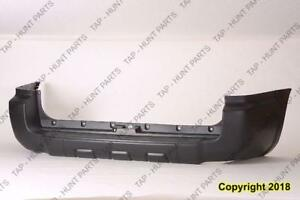 Bumper Rear Without Trailer Hitch CAPA Toyota 4Runner 2006-2009