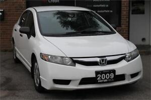 2009 Honda Civic Sdn DX-G *ALLOYS, KEYLESS, CERTIFIED*