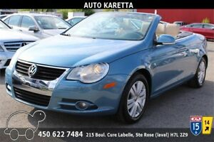 2008 VOLKSWAGEN EOS 2.0T CONVERTIBLE, CUIR CHAUFFANT, A/C