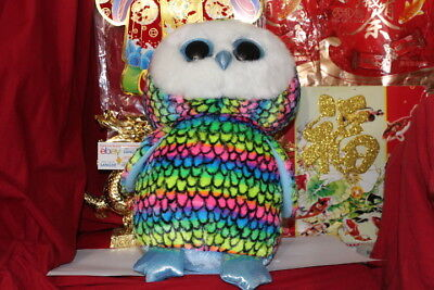 """TY BEANIE BOOS ARIA THE JUMBO OWL.16"""".CLAIRE'S EXCLUSIVE.2015/17.MWNMT.NICE GIFT"""
