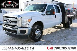 2011 Ford F-350 Super Duty XLT 4X4 FLAT DECK DUALLY 6.2L GAS