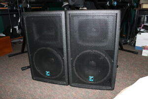 Yorkville Pulse TM12 pa speakers + Behringer 20 channel PA