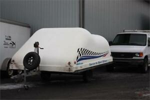 Used Hyland Clamshell Snowmobile Trailer