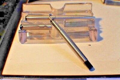 PARKER VECTOR STAINLESS STEEL FOUNTAIN PEN Set Ball Pen MEDIUM PT