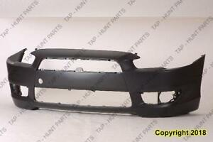 Bumper Front Primed Without Spoiler Hole Except Gts Model Capa Mitsubishi Lancer 2008-2015