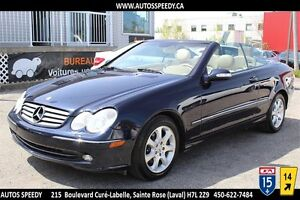 2004 MERCEDES-BENZ CLK 320 CONVERTIBLE, CLIMATISATION/CUIR/MAGS