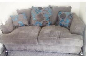 grey and blue 3 seater for sale
