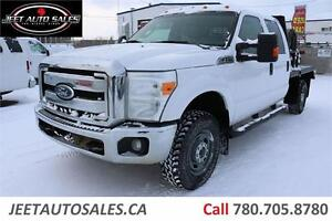"2011 Ford Super Duty F-350 XLT 4X4 with  6' 8"" X 8' Flat Deck"