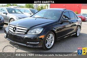 2013 MERCEDES C300 4MATIC/AWD NAVIGATION, TOIT, BLUETOOTH, MAGS