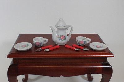"Lovvbugg Roses Mini Tea Set for 18"" American Girl Doll Food Accessory"