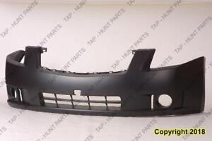 Bumper Front Primed 2.0L With Fog Lamp Hole Exclude Sr Model Nissan SENTRA 2007-2009