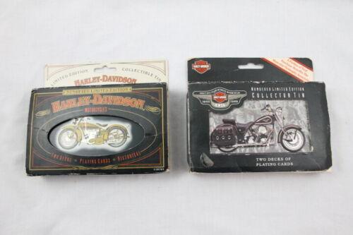 Harley Davidson Motorcycles Playing Cards in Tins Ltd Ed 4 Decks 1997 1998 NEW