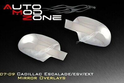 07-14 Cadillac Escalade / ESV / EXT Chrome Side View Mirror Cover Covers Set