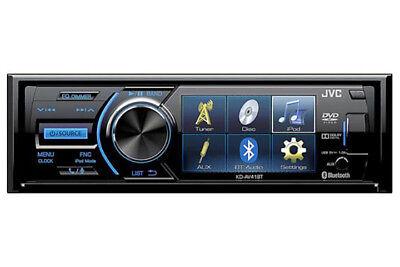 JVC KD-AV41BT  Single Din DVD Player w/3 QVGA Display Bluetooth Detachable F...