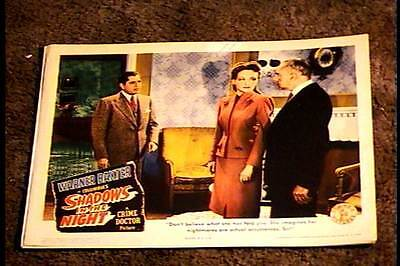 SHADOWS IN THE NIGHT 1944 LOBBY CARD #2 CRIME DOCTOR