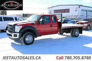 2014 Ford Super Duty F-550 XL 4X4 V10 GAS 12'X8' Flat Deck