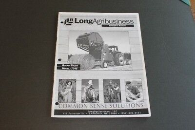 Long Round Baler Model 7345 Owners Manual.