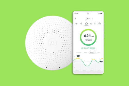 AirThings Wave Plus Smart Indoor Air Quality Monitor Radon Detection