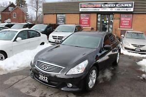 2012 INFINITI G37 Sedan Luxury MINT CONDITON - YOU ARE APPROVED