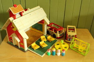 École Fisher Price vintage, rétro, Play Family school