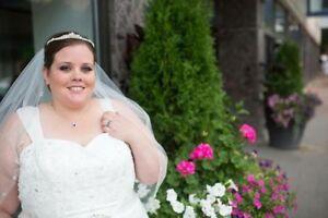 Gorgeous size 22 wedding dress