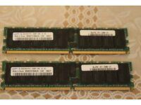 2X4GB - 8GB SAMSUNG RAM – 0627: SUN PN: 371-2326-01