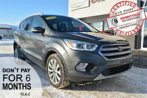2017 Ford Escape Titanium- LEATHER, PANORAMIC SUNROOF, NAV