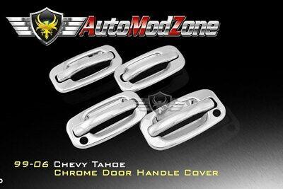 00-06 Chevy Tahoe Suburban Chrome 4 Door Handle Covers Cover w/ PSG Keyhole   06 Chrome Door Handle Covers