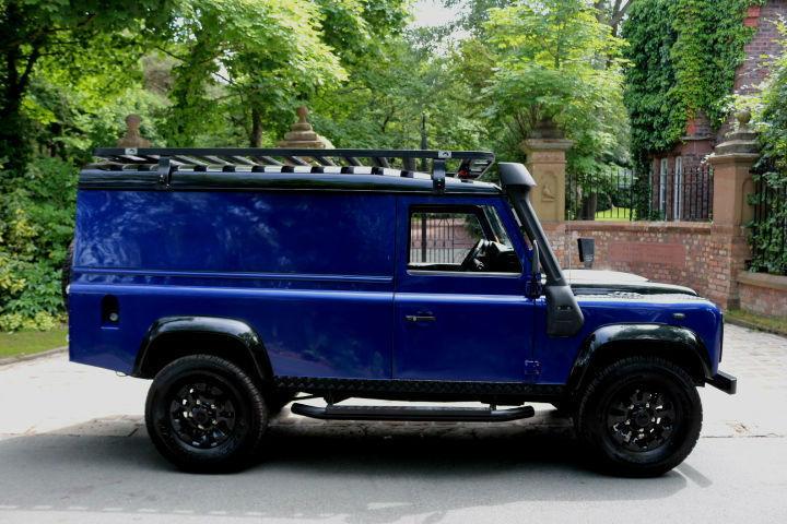2010 Land Rover Defender 110 2 4 Tdi Bespoke Svr Blue 1