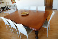 Magnifique table en acajou  / Large mahogany table